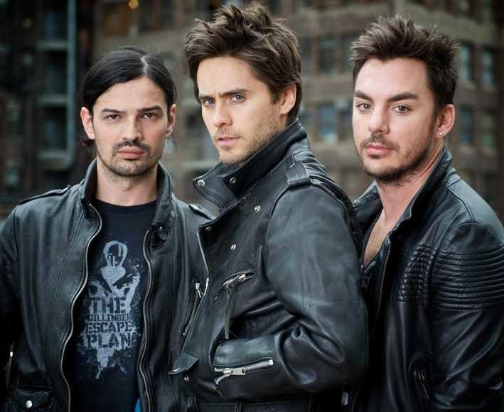 """""""30 Seconds to Mars"""" (iš kairės): Tomas Miličevicius, Jaredas Leto ir Shannonas Leto"""