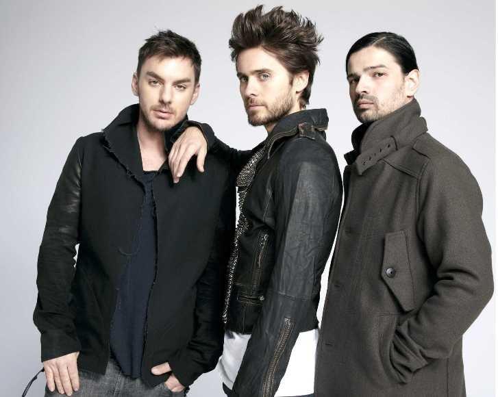 """""""30 Seconds to Mars"""" (iš kairės): Shannonas Leto, Jaredas Leto ir Tomo Miličevicius"""
