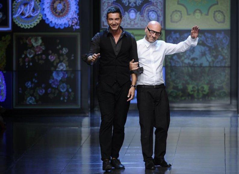 Stefano Gabbana (kairėje) ir Domenico Dolce