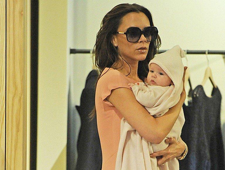 Victoria Beckham su dukra Harper