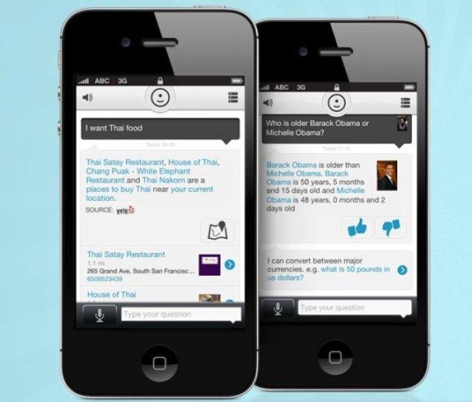 """Virtuali asistentė """"Evi"""" tinka ne tik """"iPhone"""" telefonams, bet ir įrenginiams su """"Android"""" operacine sistema."""