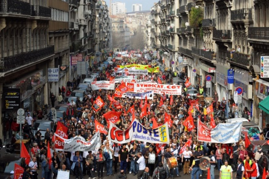 Streikas Prancūzijoje.
