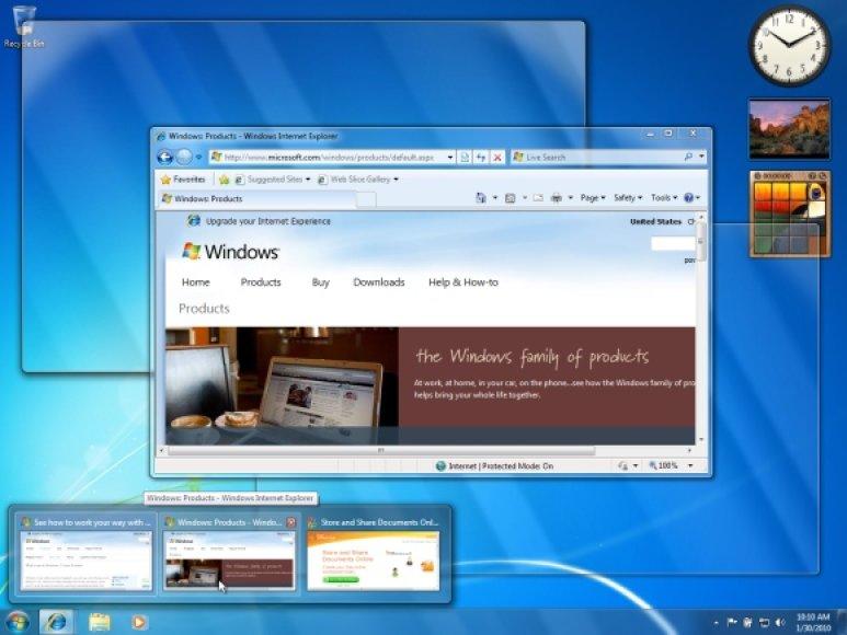 Windows 7 darbastalis.