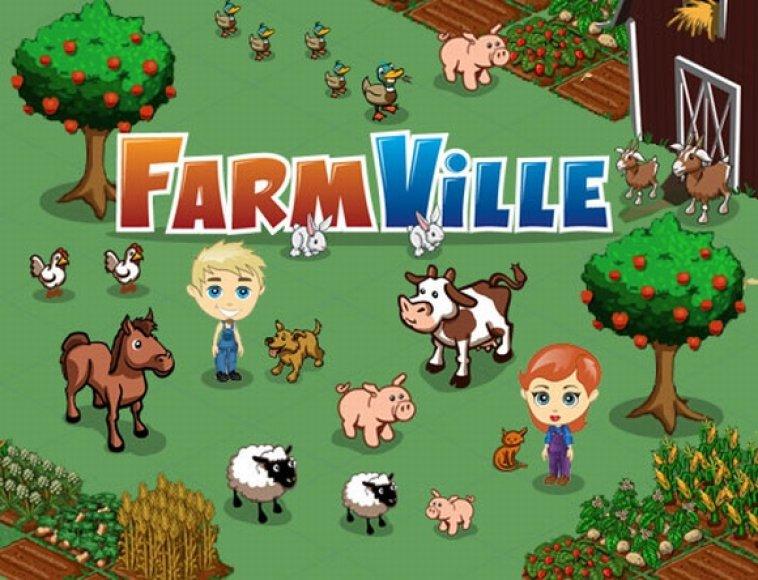 """Vienas populiariausių """"Facebook"""" žaidimų """"FarmVille""""."""