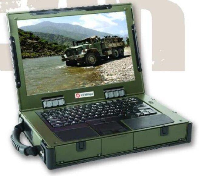 """Nešiojamasis karinis kompiuteris """"RLC-3""""."""