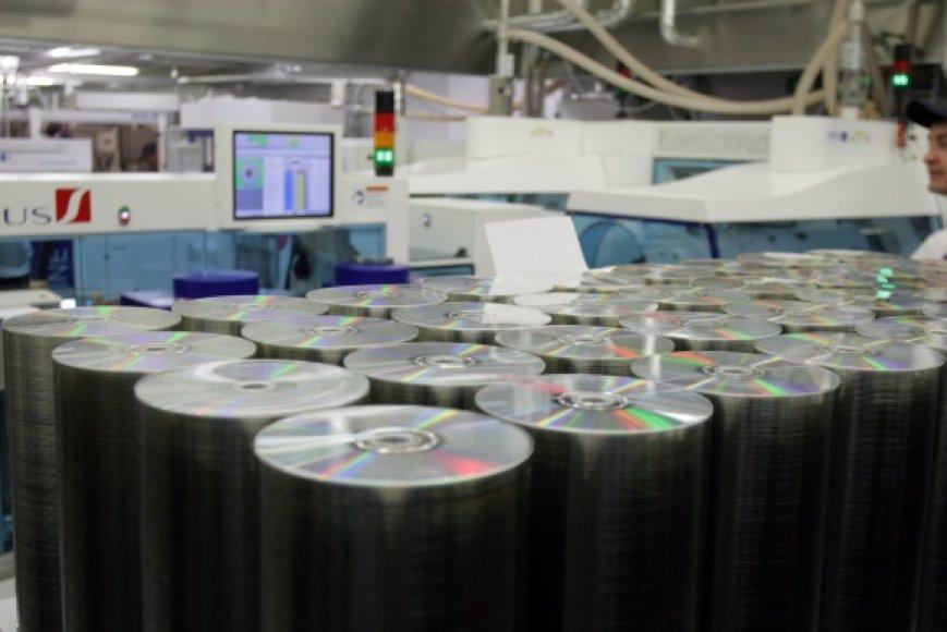 Kompaktiniai diskai.