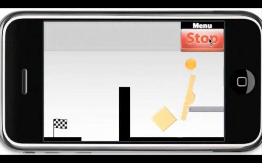 """""""iPhone"""" žaidimas """"Bubble Ball""""."""