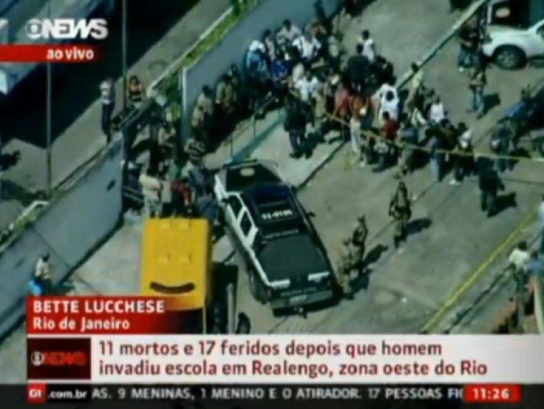 Policija įvykio vietoje.