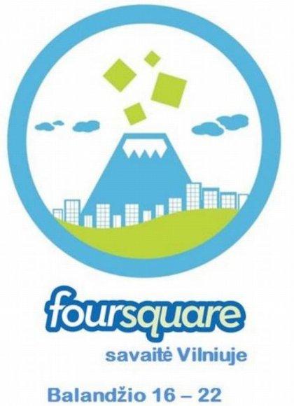 """""""Foursquare"""" savaitės logotipas"""