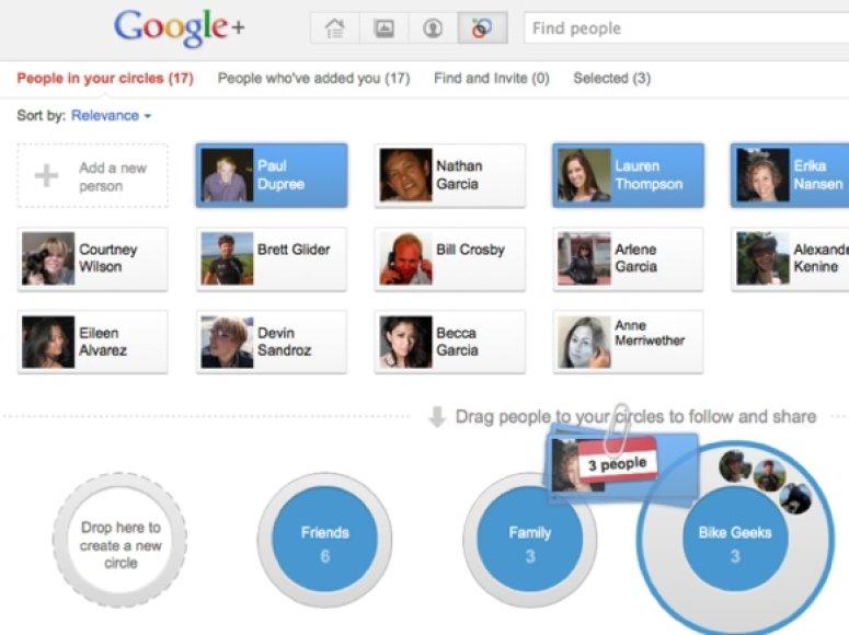 """Socialinis tinklas """"Google+"""""""