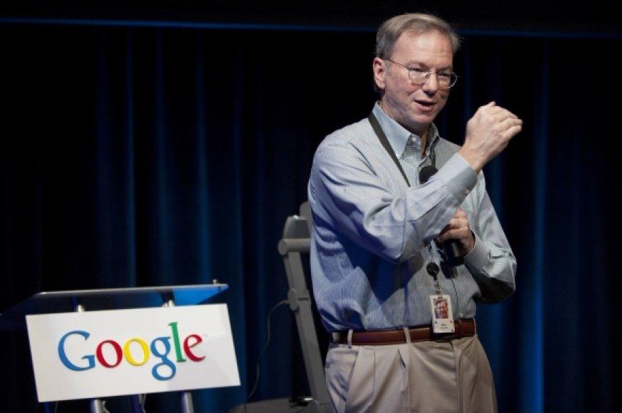 """""""Google"""" valdybos pirmininkas Ericas Schmidtas"""