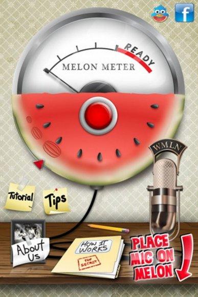 """Programėlė """"iPhone"""" telefonams """"Melon Meter"""" gali nustatyti, ar arbūzas prinokęs."""
