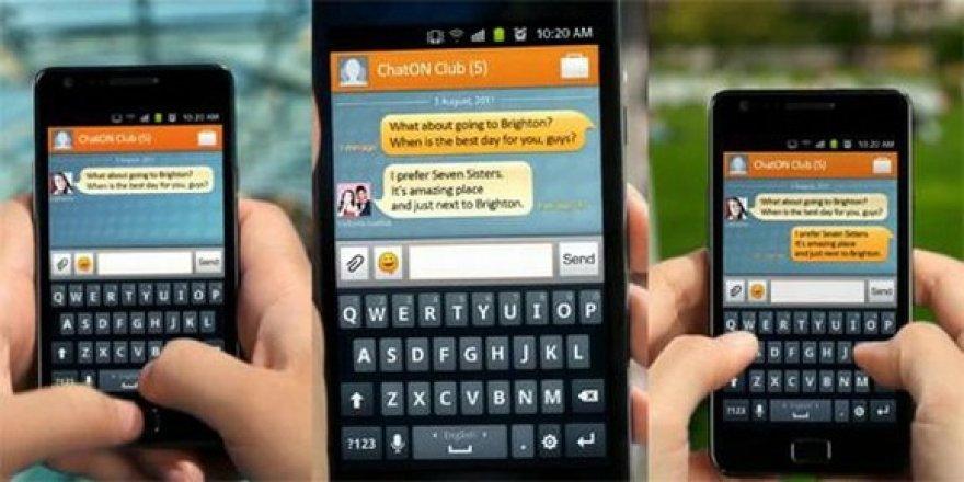 """Taip atrodo susirašinėjimas programa """"ChatON"""" mobiliojo telefono ekrane."""