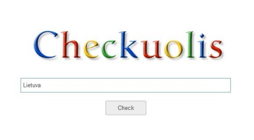 Paieškos sistema Checkuolis.lt