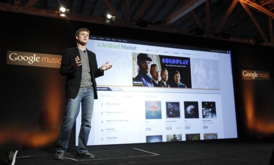 """Google Music"" pristatymo akimirka"