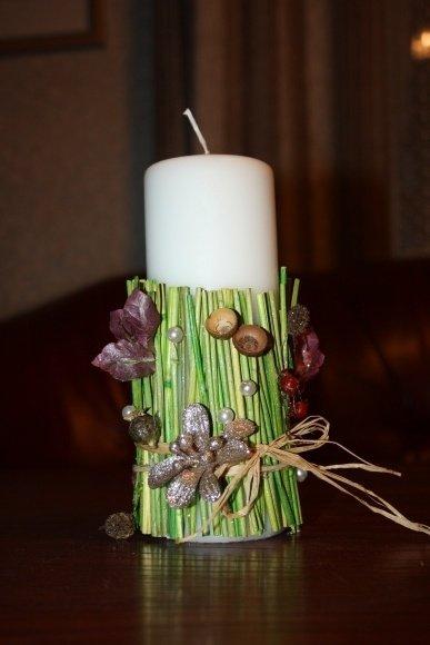 Vilijos dekoruota žvakė