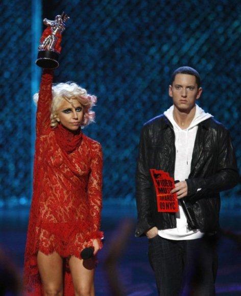 Eminemas ir Lady Gaga akis į akį susidūrė prieš kelis metus, per MTV apdovanojimus.