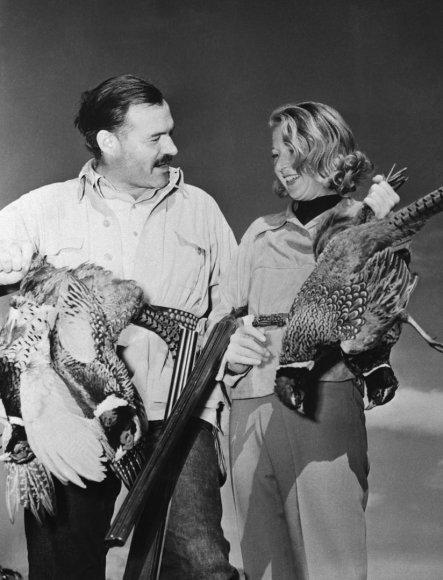 Vida Press nuotr./Ernestas Hemingway ir Martha Gellhorn 1940 m.