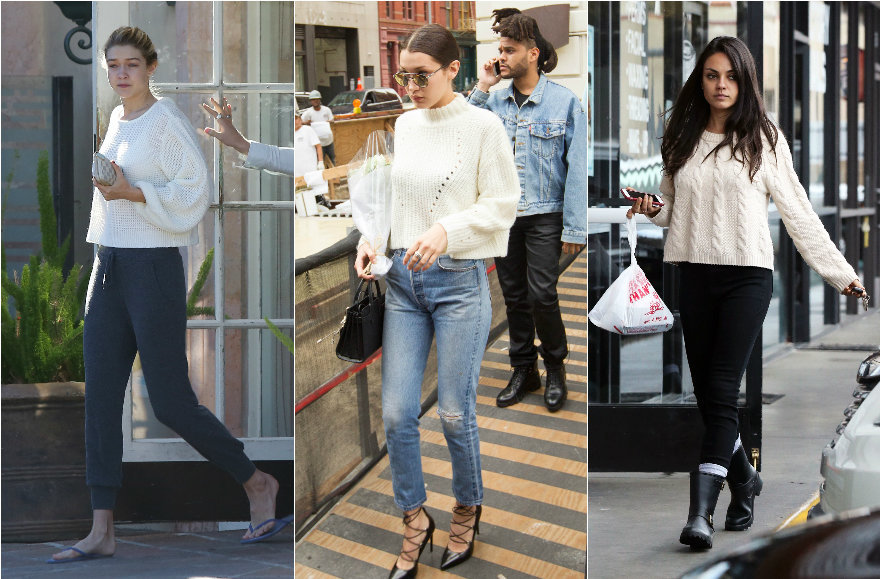 Vida Press nuotr./Gigi Hadid, Bella Hadid, Mila Kunis, Lily Aldridge