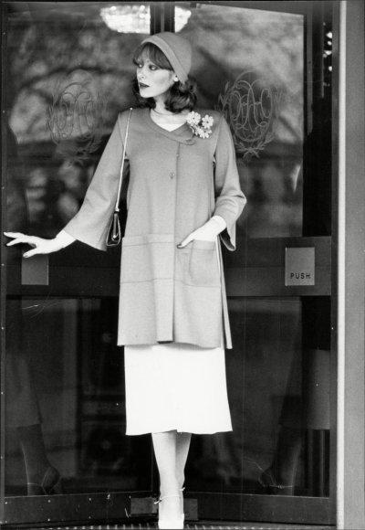 """Vida Press nuotr./""""Sonia Rykiel"""" 1976 m. modelis (tik bateliai """"Christian Dior"""")"""