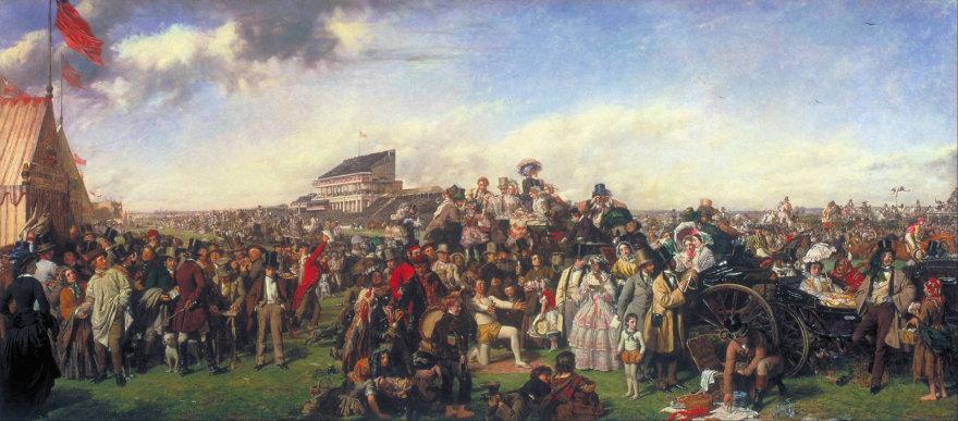 Vida Press nuotr./METINĖS RISTŪNŲ LENKTYNĖS EPSOME (DERBY DAY). 1856–1858
