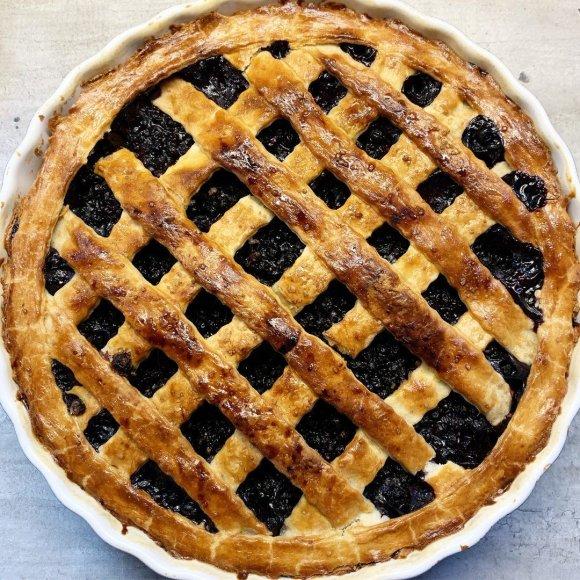 Amerikietiškas mėlynių pyragas