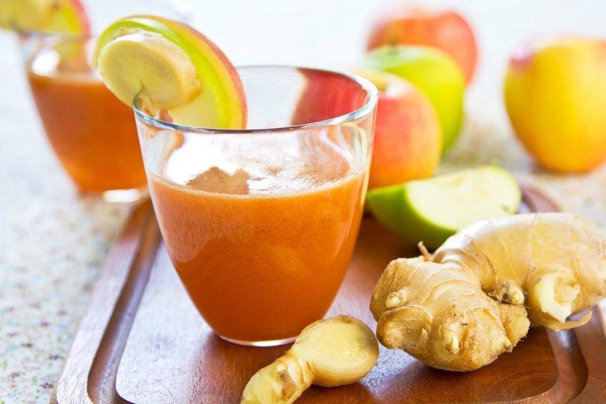 Imbierinis obuolių glotnutis