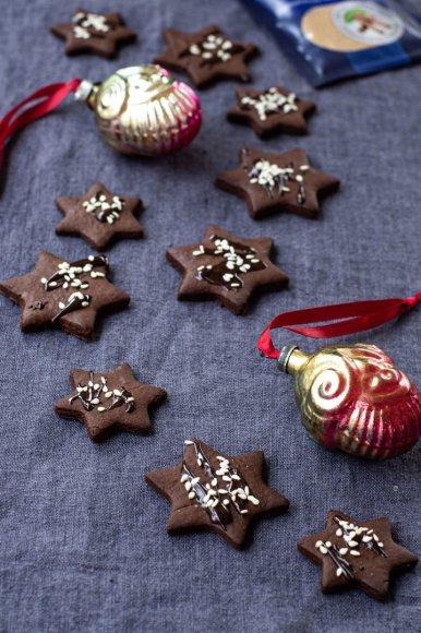 Šokoladinės sezamų žvaigždės