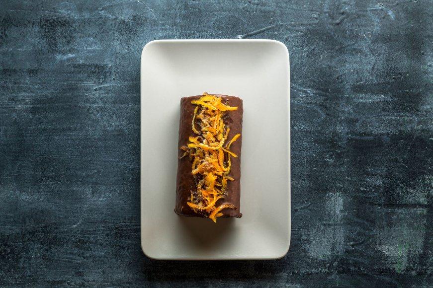 Šokoladinis varškės vyniotinis