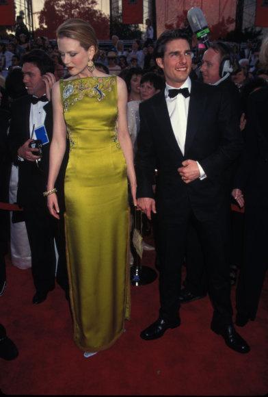 Elaima nuotr./Nicole Kidman ir Tomas Cruise\'as 1997-ųjų gala puotoje