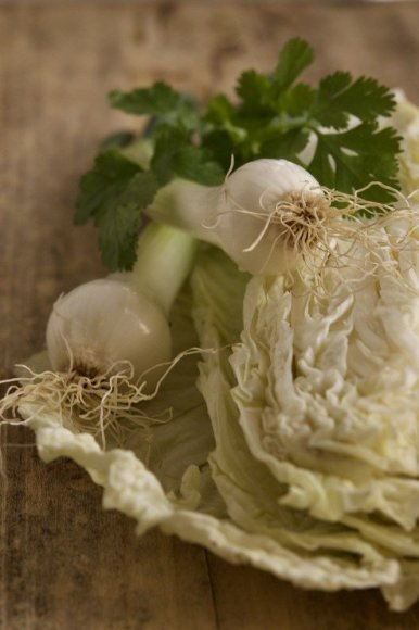 Dangiros Šimašiutės nuotr. /Kininio kopūsto salotų ingredientai