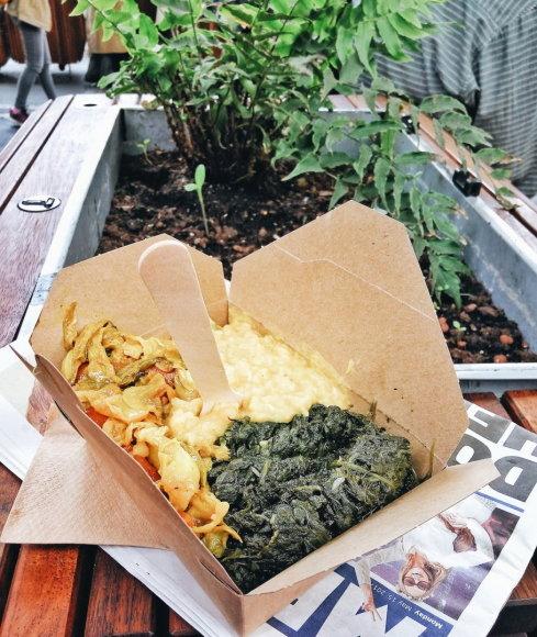 """Olgos Nikolajevos nuotr./Etiopijos virtuvės maistas """"Borough Market"""" Londone"""