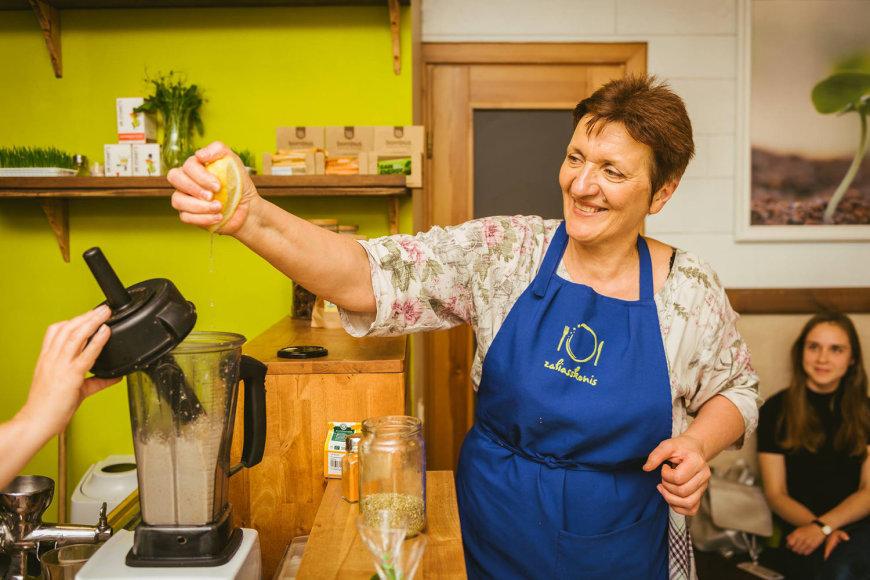 Organizatorių archyvo nuotr./Renginio popietę maisto technologė Irena Žentalytė surengs augalinio maisto gaminimo pamoką