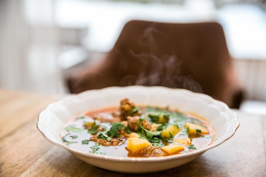 Ispaniška chorizo sriuba