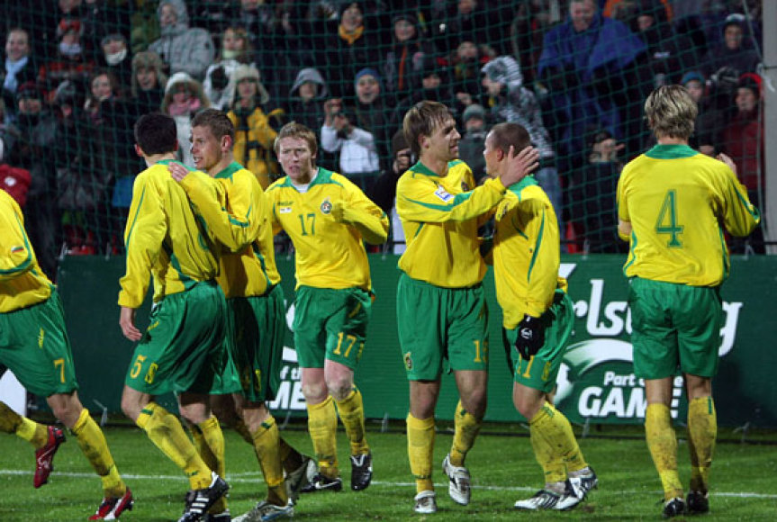 Lietuviai įveikė Serbijos vienuolikę rezultatu 2:1