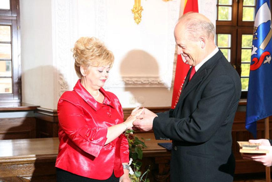 Kęstutis Ignatavičiaus ir jo žmona Vida, šiemet mini 40-ąsias, rubinines, savo santuokos metines
