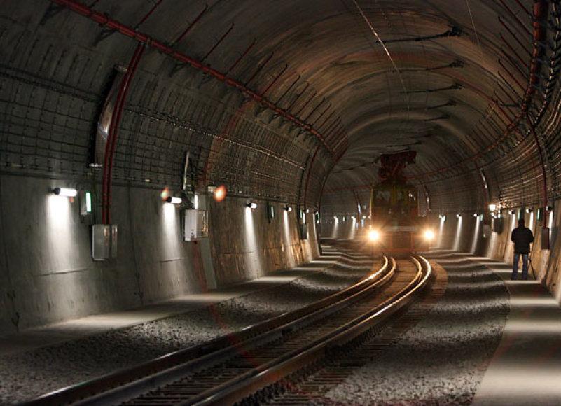 Tunelio vidus po remonto