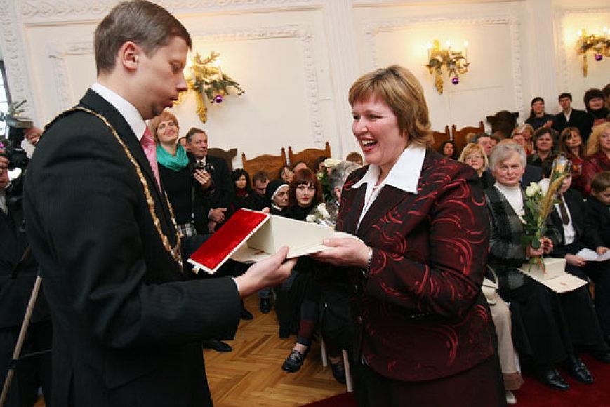 Kauno miesto rotušėje vyko tradicinė padėkos ceremonija.