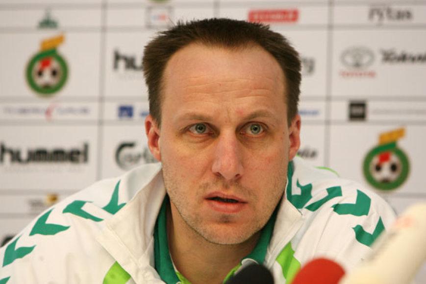 Raimondas Žutautas Lietuvos rinktinei turėtų vadovauti iki ciklo pabaigos