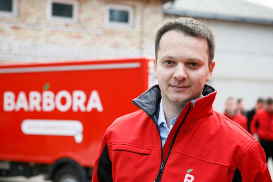 """Eriko Ovčarenko / 15min nuotr./""""Barbora"""" vadovas Tomas Kibildis"""