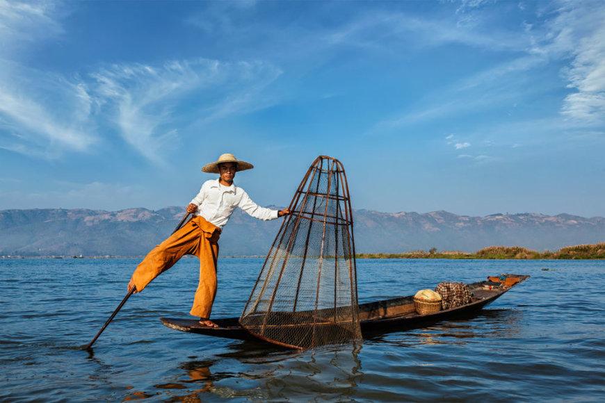 Shutterstock nuotr./Žvejys Inle ežere