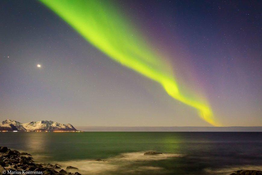 Mariaus Kontrimo nuotr./Šiaurės pašvaistė Lofoteno salose