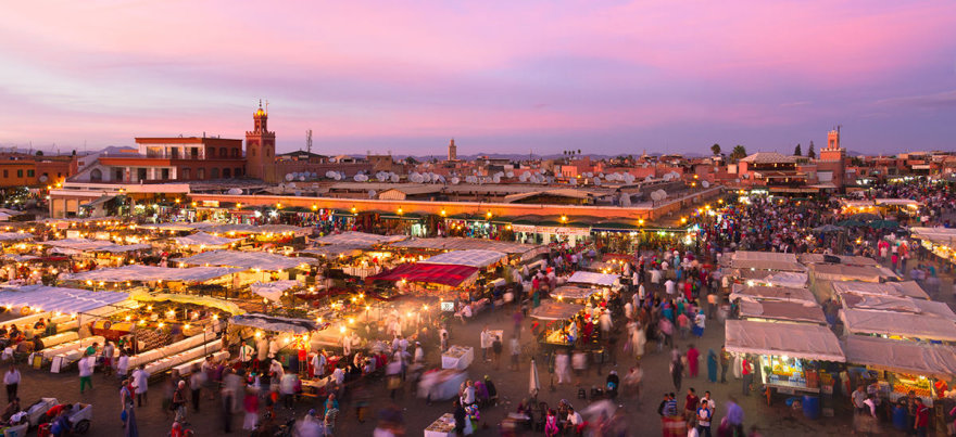 Shutterstock nuotr./Džema el Fna aikštės panorama