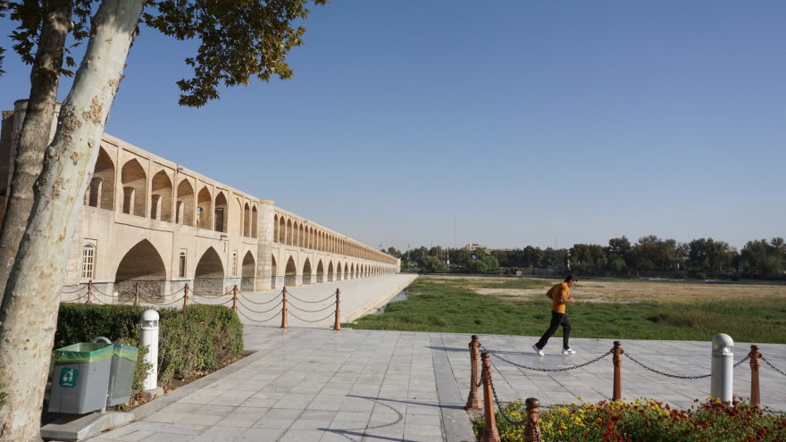 Vytauto Juršėno nuotr./33 arkų tiltas Isfahane