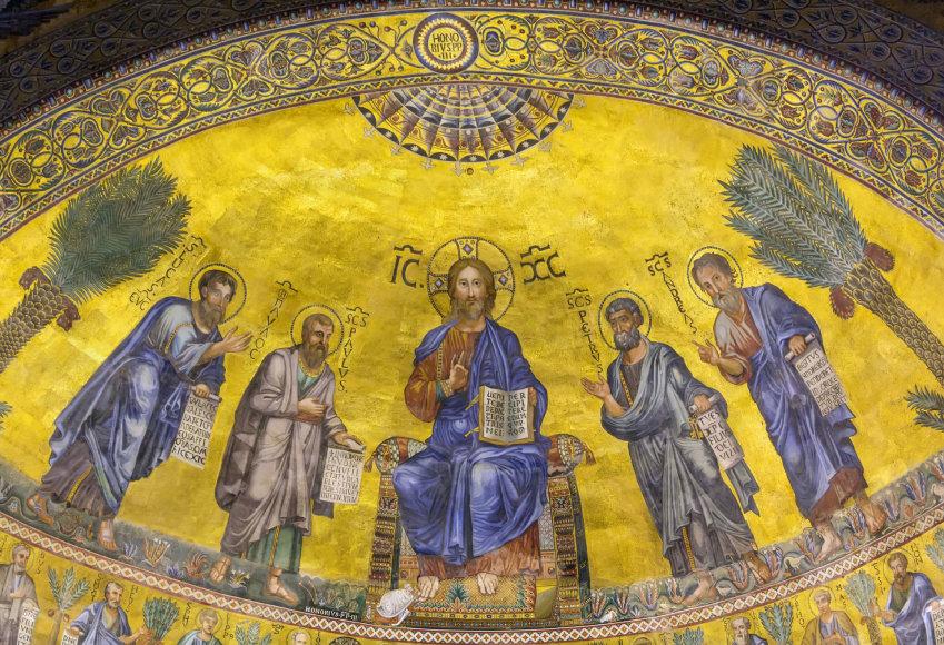 123rf.com nuotr./Šv. Pauliaus bažnyčios Romoje interjero detalė