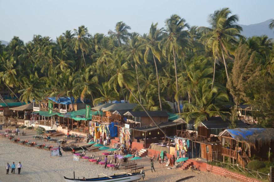 Karolio Barecko nuotr./Pakrantės viešbutukai Goa, Indija
