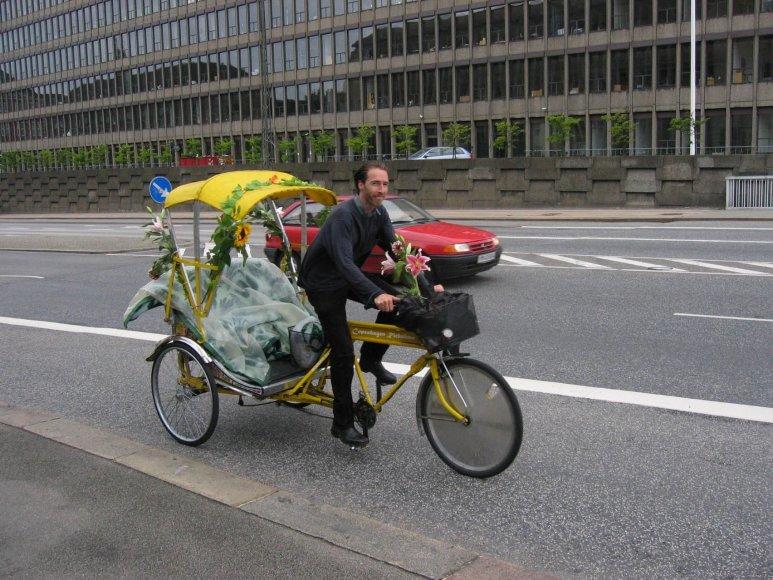 Vaido Mikaičio nuotr./Danai su dviračiais