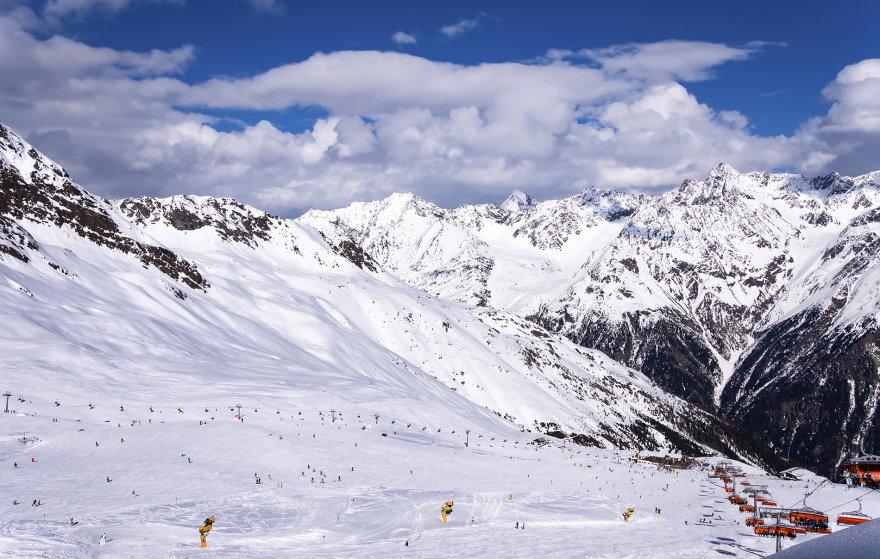 Bigstock.com nuotr./Soldeno slidinėjimo kurortas Austrijoje