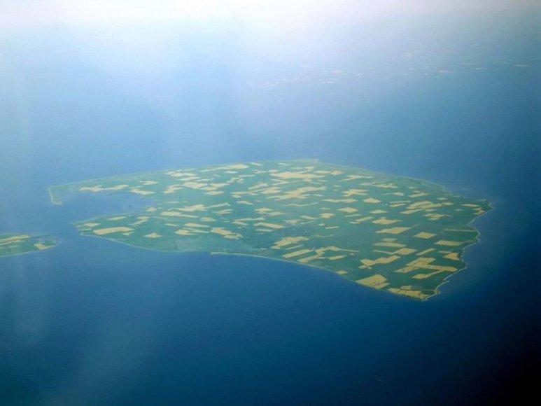 Wikipedia.org/Fėmarno salos iš lėktuvo