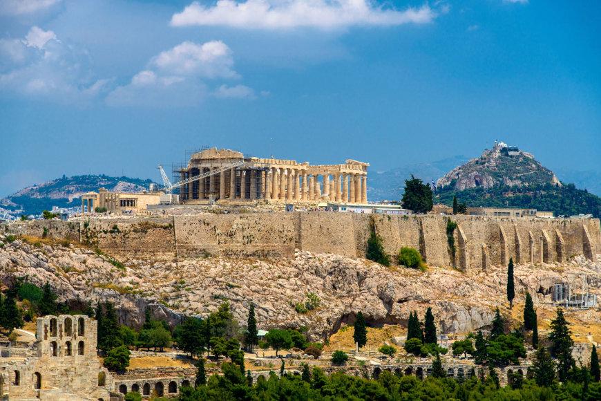 Fotolia nuotr./Tolumoje matyti Akropolis
